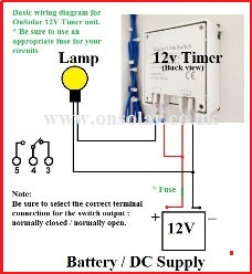 12v OnSolar Timer wiring diagram onsolar 12v low energy saving lighting products for the home 12v timer wiring diagram at readyjetset.co
