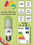 12V 7W CCFL Compact Fluorescent Lamps